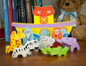 Wooden Noah's ark balance game - wooden animals