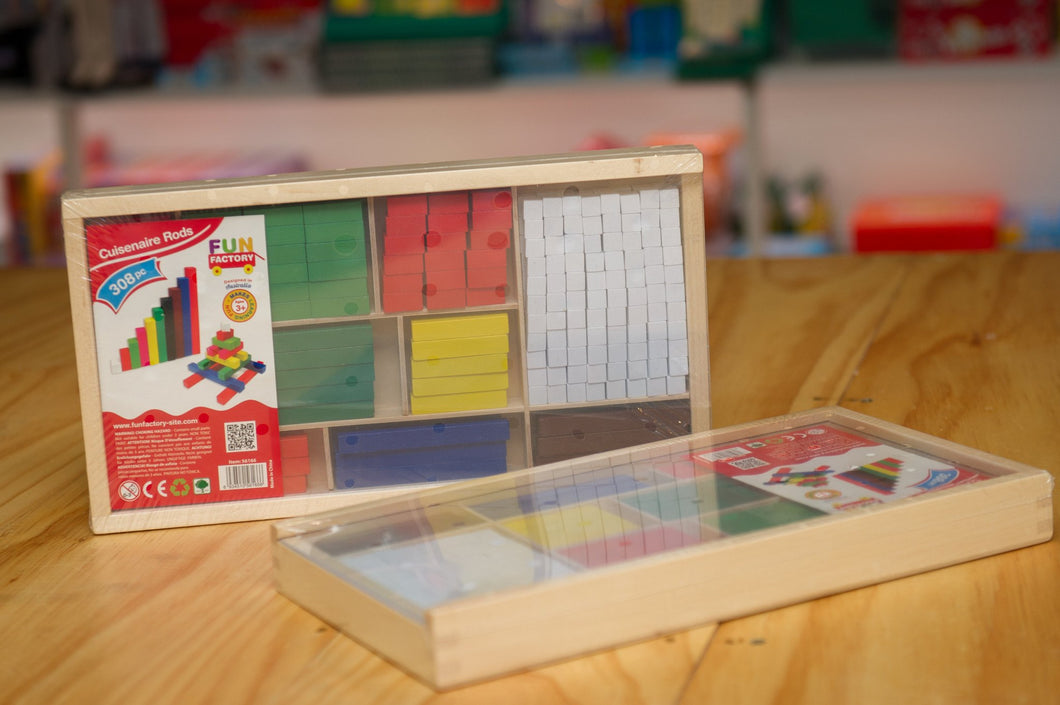 Learn Maths with this Wooden Cuisenaire Rods from Fun Factory.