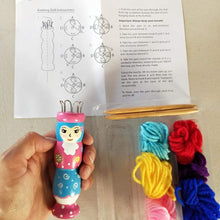French knitting doll