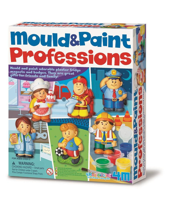 Mould and paint adorable plaster fridge magnets and badges by using the mould, plaster, paints and brush included.