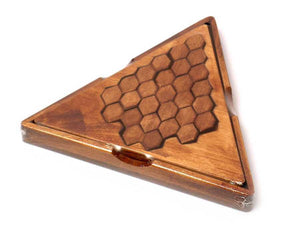 Triangle wooden brain teaser mind trainer puzzle