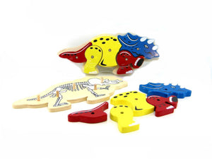 Wooden Dinosaur skeleton parts puzzle