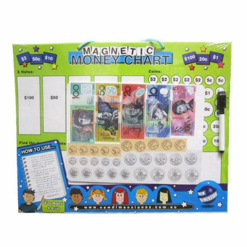 Magnetic money learning board