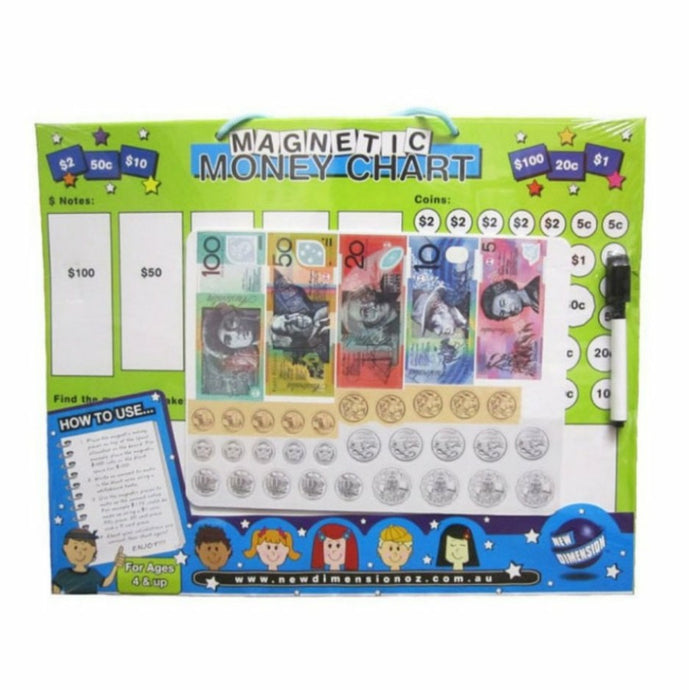 Magnetic money learning board teach children money