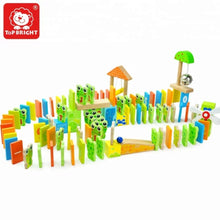 Wooden domino learning set 100pcs alphabet