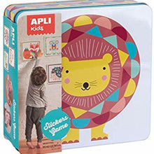 Lion Shape and colour sticker game - Shape and colour matching activity for preschoolers