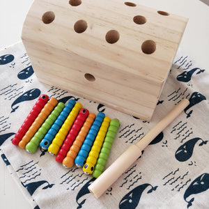 Wooden Worm Game