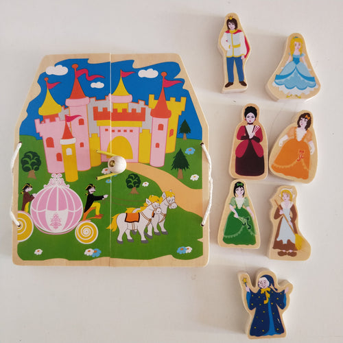 Cinderella - Wooden story play set
