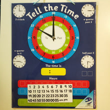 Learn to tell the time magnetic board