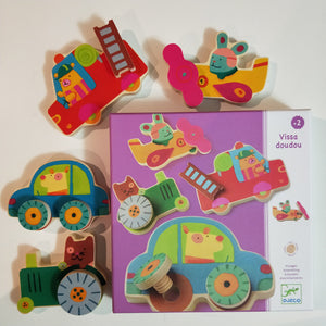 Wooden screw transport building set - Djeco