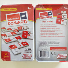 Subtraction Domino game primary school learning game