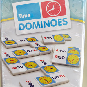 Practice telling the time with time domino game