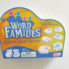 Word family snap blocks