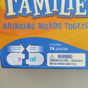 Word family snap blocks word building game