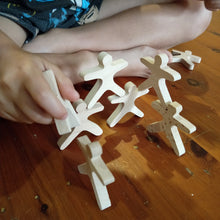 Wooden Balance people - set of 10 acrobat stacking wooden toy open ended play montessori