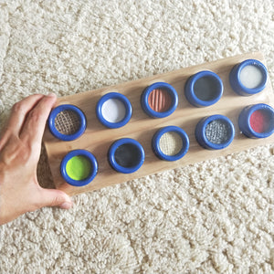 Wooden sensory puzzle match the textures