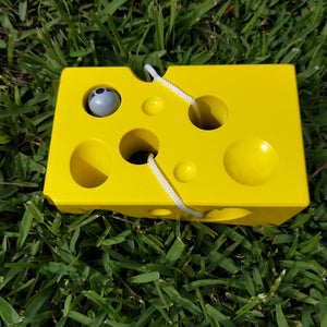 Wooden threading Cheese - Thread the wooden mouse through the holes in the wooden cheese block to help develop fine motor skills