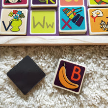 Magnetic alphabet puzzle and chalk board in 1 - B Toys