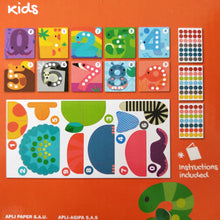 3D Number and counting sticker game for kids
