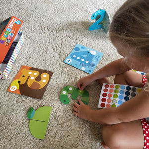 3D Number and counting sticker game for kids - learn numbers and practice counting