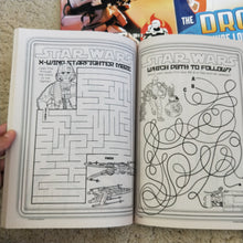 Activity and colouring book with mazes find a words and more