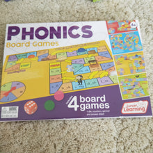 Set of 4 Phonics board games