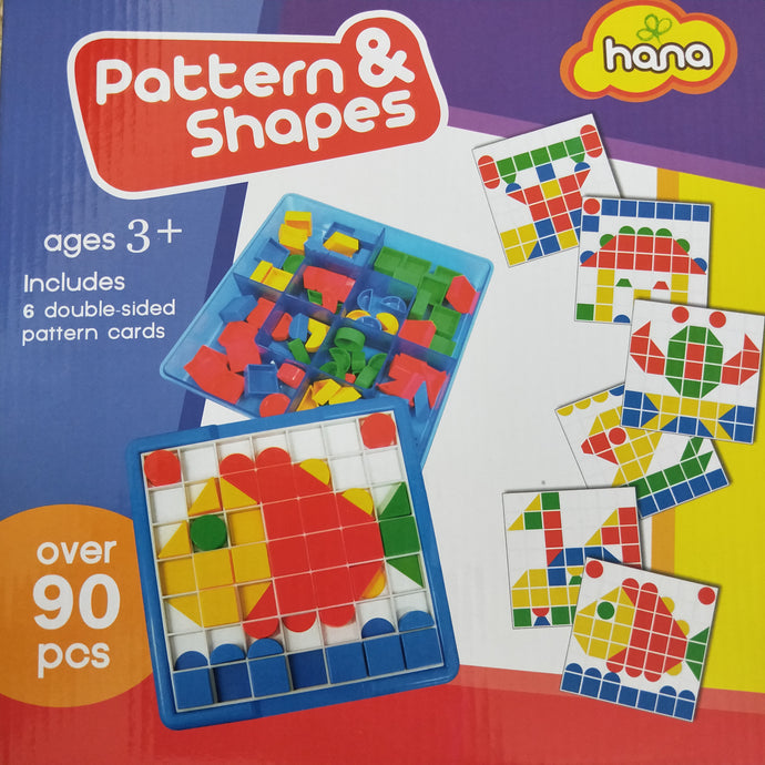 Geometry Pattern Play Set - 90pc make pictures and patterns with shapes