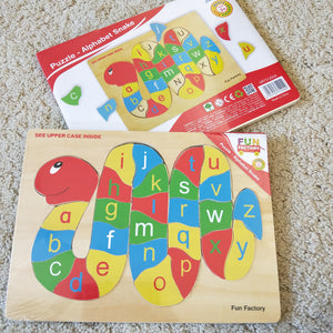 Caterpillar letter matching puzzle