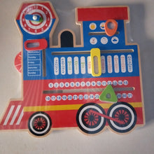 Wooden Train themed Children's Calendar - Seasons, days, months, weather, time clock