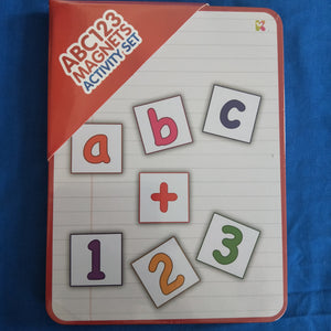 Preschool learning tin alphabet and numbers
