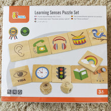 Learning senses wooden puzzle