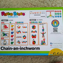 Build an Inchworm Popbo Blocs baby toy