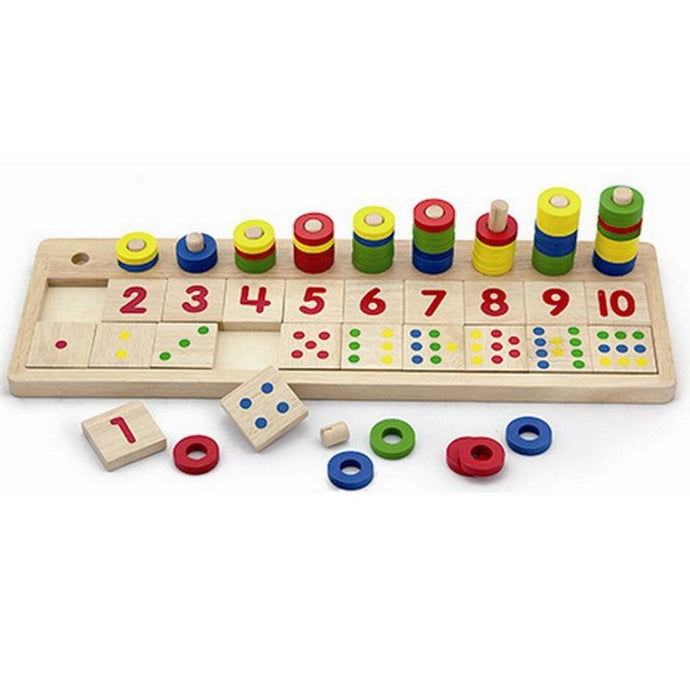 Count and maths wooden learning set - Montessori