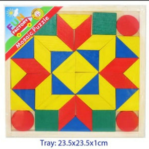 Wooden mosaic puzzle - shapes