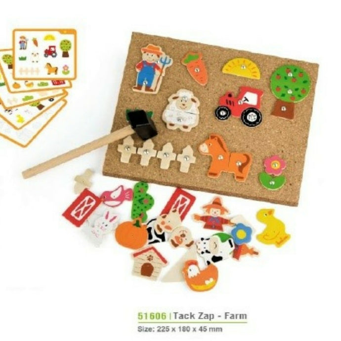 Farm themed Tap Tap a shape set hammer and nail