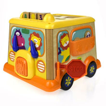 Wooden Bus Activity toy for Babies and toddlers - Shape sorter