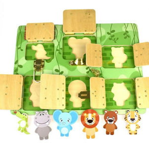 Zoo Animal themed Large Latch puzzle