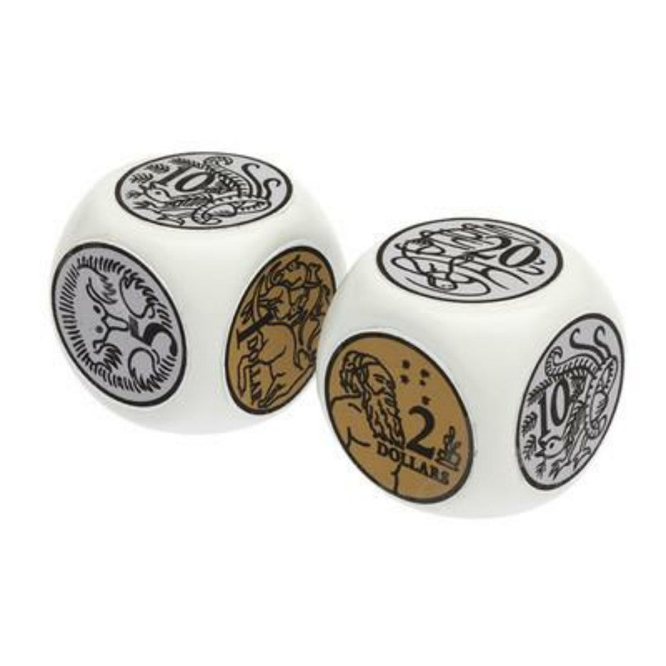 Learn australian coins and teach money using these jumbo australian coin dice