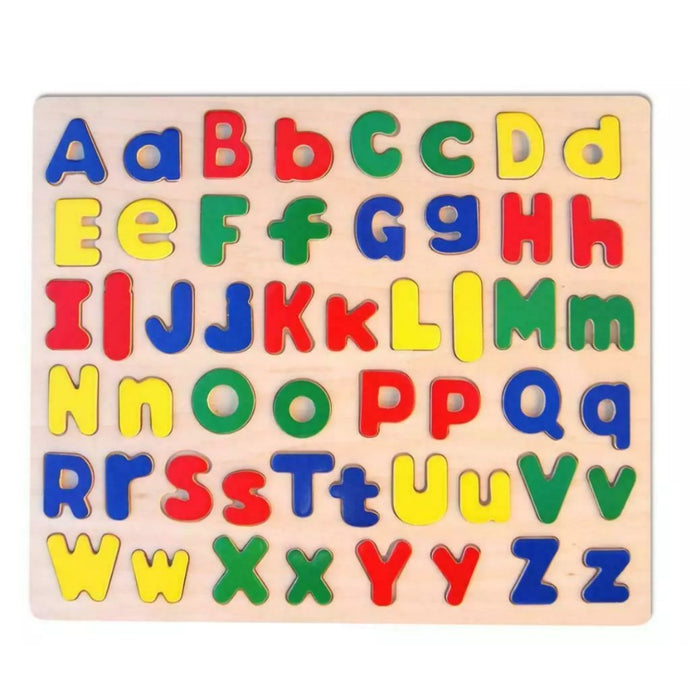 Wooden upper and lower case Letter alphabet puzzle