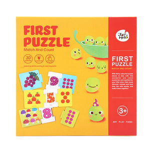 Match and count puzzle - first math counting puzzle