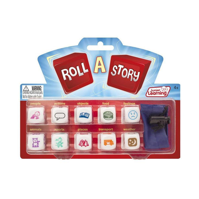 a story dice set to help language or writing skills and creativity