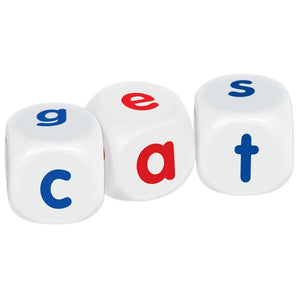 Word building dice set game