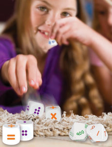 Roll a sum dice set fun way for primary school children to learn math sums