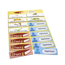Fact or opinion comprehension learning game