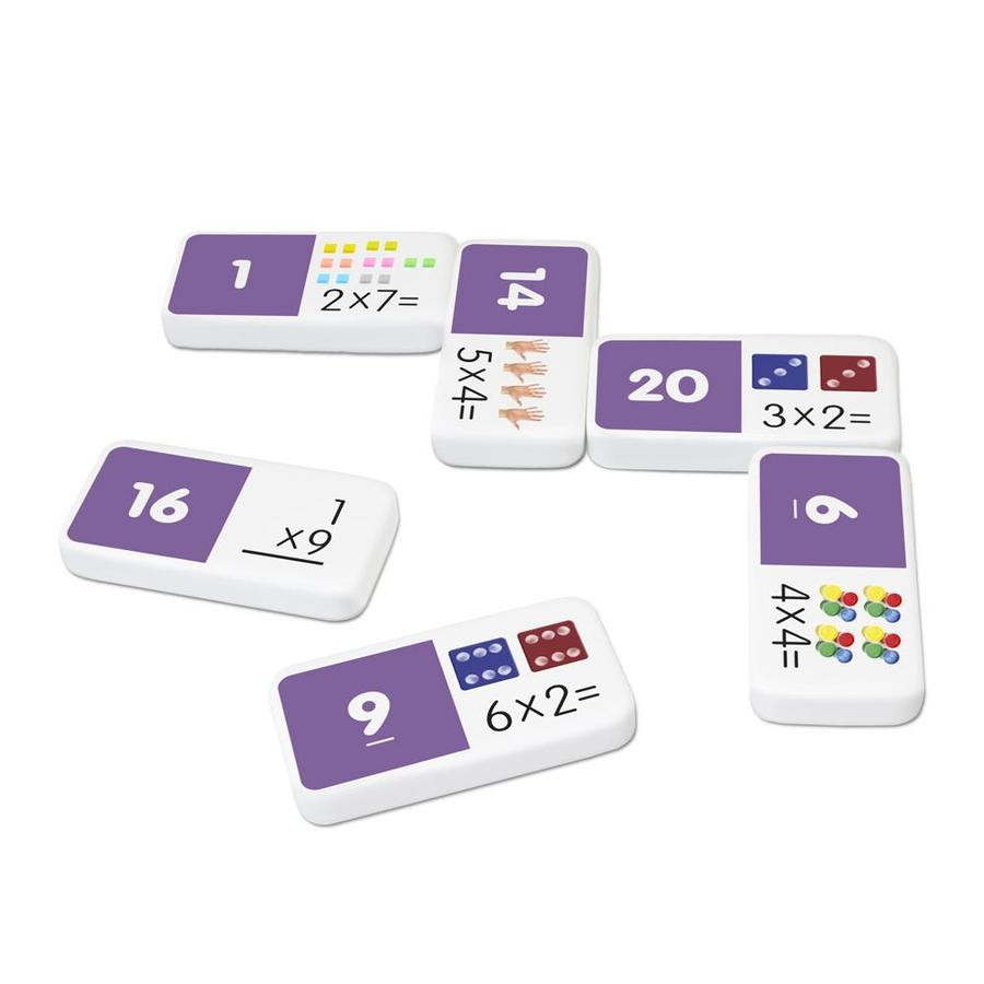 Multiplication domino game