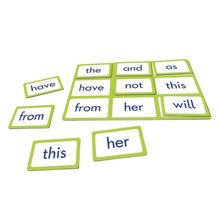 Sight word BINGO match the words in a fun way to help learn and teach sight words