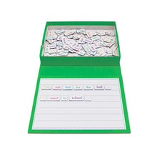 Magnetic sentence - rainbow sentences educational tool to help teach sentence building primary school