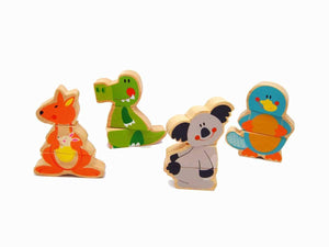 Wooden Australian Animal magnetic puzzle