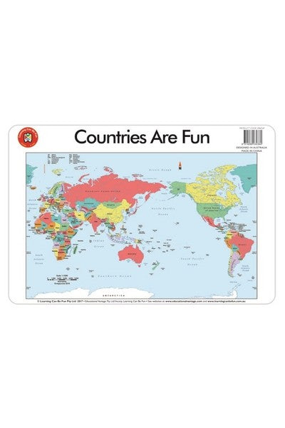 Countries are fun Placemat