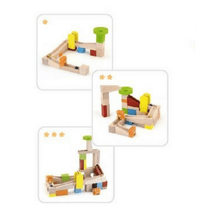 Different designs for wooden marble run